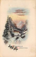 xms001551 - Christmas Post Card Old Vintage Antique Xmas Postcard
