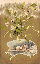 xms001555 - Christmas Post Card Old Vintage Antique Xmas Postcard