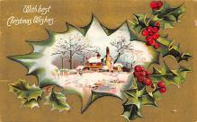 xms001559 - Christmas Post Card Old Vintage Antique Xmas Postcard