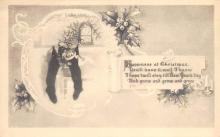 xms001561 - Christmas Post Card Old Vintage Antique Xmas Postcard