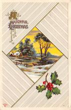 xms001567 - Christmas Post Card Old Vintage Antique Xmas Postcard