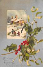 xms001571 - Christmas Post Card Old Vintage Antique Xmas Postcard