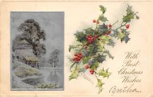 xms001579 - Christmas Post Card Old Vintage Antique Xmas Postcard