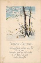 xms001581 - Christmas Post Card Old Vintage Antique Xmas Postcard