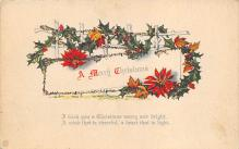 xms001583 - Christmas Post Card Old Vintage Antique Xmas Postcard