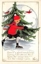 xms001589 - Christmas Post Card Old Vintage Antique Xmas Postcard