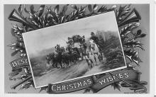 xms001603 - Christmas Post Card Old Vintage Antique Xmas Postcard