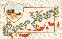 xms001609 - Christmas Post Card Old Vintage Antique Xmas Postcard