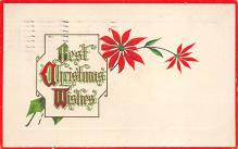 xms001615 - Christmas Post Card Old Vintage Antique Xmas Postcard