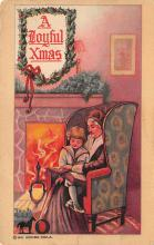 xms001629 - Christmas Post Card Old Vintage Antique Xmas Postcard