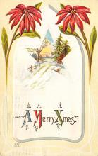 xms001633 - Christmas Post Card Old Vintage Antique Xmas Postcard