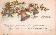 xms001635 - Christmas Post Card Old Vintage Antique Xmas Postcard