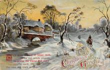 xms001637 - Christmas Post Card Old Vintage Antique Xmas Postcard