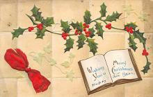 xms001641 - Christmas Post Card Old Vintage Antique Xmas Postcard