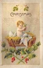 xms001645 - Christmas Post Card Old Vintage Antique Xmas Postcard