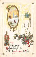 xms001651 - Christmas Post Card Old Vintage Antique Xmas Postcard