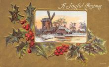 xms001653 - Christmas Post Card Old Vintage Antique Xmas Postcard