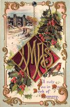 xms001655 - Christmas Post Card Old Vintage Antique Xmas Postcard