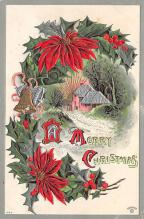 xms001665 - Christmas Post Card Old Vintage Antique Xmas Postcard