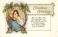 xms001671 - Christmas Post Card Old Vintage Antique Xmas Postcard