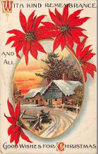 xms001677 - Christmas Post Card Old Vintage Antique Xmas Postcard