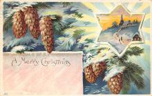 xms001679 - Christmas Post Card Old Vintage Antique Xmas Postcard