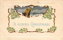 xms001681 - Christmas Post Card Old Vintage Antique Xmas Postcard