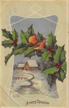 xms001683 - Christmas Post Card Old Vintage Antique Xmas Postcard