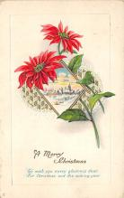 xms001689 - Christmas Post Card Old Vintage Antique Xmas Postcard