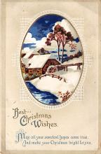 xms001693 - Christmas Post Card Old Vintage Antique Xmas Postcard