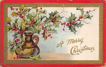 xms001695 - Christmas Post Card Old Vintage Antique Xmas Postcard