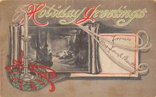 xms001699 - Christmas Post Card Old Vintage Antique Xmas Postcard