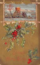 xms001703 - Christmas Post Card Old Vintage Antique Xmas Postcard