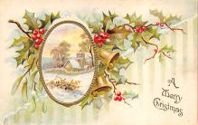 xms001705 - Christmas Post Card Old Vintage Antique Xmas Postcard