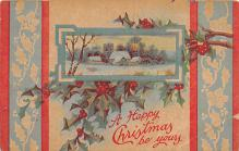 xms001707 - Christmas Post Card Old Vintage Antique Xmas Postcard