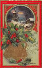 xms001711 - Christmas Post Card Old Vintage Antique Xmas Postcard
