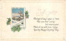 xms001713 - Christmas Post Card Old Vintage Antique Xmas Postcard