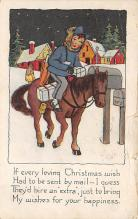 xms001715 - Christmas Post Card Old Vintage Antique Xmas Postcard