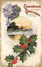 xms001719 - Christmas Post Card Old Vintage Antique Xmas Postcard