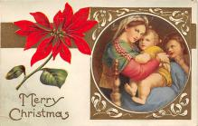 xms001721 - Christmas Post Card Old Vintage Antique Xmas Postcard