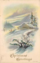 xms001723 - Christmas Post Card Old Vintage Antique Xmas Postcard
