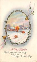 xms001725 - Christmas Post Card Old Vintage Antique Xmas Postcard