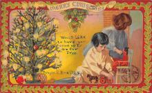 xms001747 - Christmas Post Card Old Vintage Antique Xmas Postcard