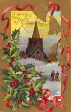 xms001749 - Christmas Post Card Old Vintage Antique Xmas Postcard