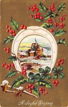 xms001753 - Christmas Post Card Old Vintage Antique Xmas Postcard