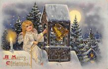 xms001759 - Christmas Post Card Old Vintage Antique Xmas Postcard