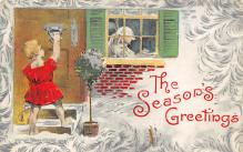 xms001765 - Christmas Post Card Old Vintage Antique Xmas Postcard