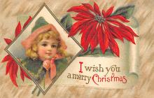xms001767 - Christmas Post Card Old Vintage Antique Xmas Postcard
