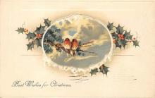 xms001769 - Christmas Post Card Old Vintage Antique Xmas Postcard