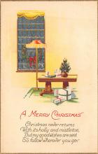 xms001771 - Christmas Post Card Old Vintage Antique Xmas Postcard